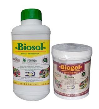 Biosol + Biogel: Phân bón hữu cơ sinh học